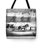 QUAKERS GOING TO MEETING Tote Bag by Granger