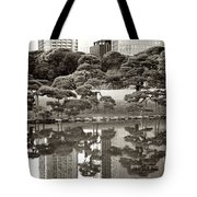 Quiet Moment In Tokyo Tote Bag by Carol Groenen