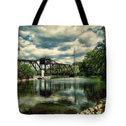 Rail Swing Bridge Tote Bag by Joel Witmeyer