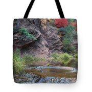 Rainbow Of The Season And River Over Rocks Tote Bag by Heather Kirk