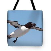Razorbill In Flight Tote Bag by Bruce J Robinson