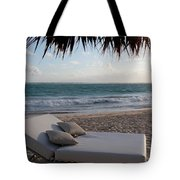 Ready To Relax On A Tropical Beach Tote Bag by Karen Lee Ensley