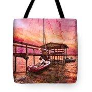 Ready To Sail Tote Bag by Debra and Dave Vanderlaan