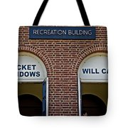 Rec Hall Tote Bag by Tom Gari Gallery-Three-Photography
