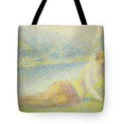 Reclining Nude Tote Bag by Hippolyte Petitjean