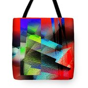 Red Abstract 1 Tote Bag by Anil Nene
