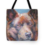 red Australian Kelpie Tote Bag by Lee Ann Shepard