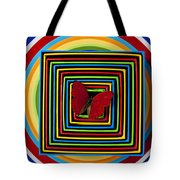 Red Butterfly In Nested Boxes Tote Bag by Garry Gay