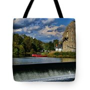Red Canoes at the Boathouse Tote Bag by Paul Ward