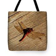 Red Dragon Fly Tote Bag by LeeAnn McLaneGoetz McLaneGoetzStudioLLCcom