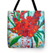 Red Gladiolus Tote Bag by Ana Maria Edulescu