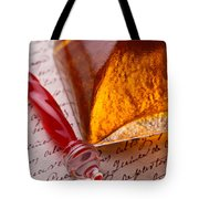 Red Glass Pen  Tote Bag by Garry Gay