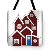 Red Houses Tote Bag by Frank Tschakert