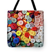 Red Lips Button Tote Bag by Garry Gay