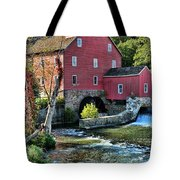 Red Mill On The Water Tote Bag by Paul Ward