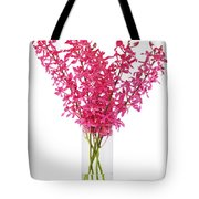 Red Orchid In Vase Tote Bag by Atiketta Sangasaeng