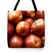 Red Pears Tote Bag by Methune Hively