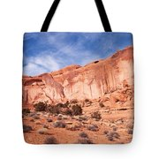 Red Rock and Blue Skies Tote Bag by Bob and Nancy Kendrick