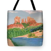 Red Rock Crossing Tote Bag by Aimee Mouw