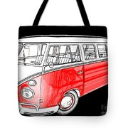 Red Volkswagen Tote Bag by Cheryl Young