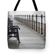 Redcar, North Yorkshire, England Row Of Tote Bag by John Short