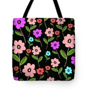 Retro Florals Tote Bag by Louisa Knight