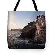 Riomaggio Sunset Tote Bag by Mike Reid