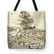 Rocky Ground At Montmajour Tote Bag by Vincent van Gogh