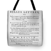 Rollin: Title Page, 1769 Tote Bag by Granger