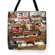 Rooftops in Puerto Vallarta Mexico Tote Bag by Elena Elisseeva