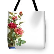 Roses Bouquet Tote Bag by Carlos Caetano