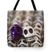 Royal Purple And White Tote Bag by Mike Herdering