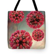 Rubella Virus Particles Tote Bag by Russell Kightley