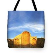 Ruins Of Shivta Byzantine Church Tote Bag by Nir Ben-Yosef