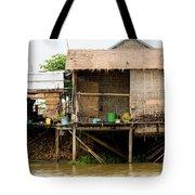 Rural Houses in Cambodia Tote Bag by Artur Bogacki