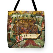 Russian Icon: Dice Players Tote Bag by Granger