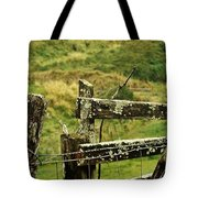 Rustic Fence Tote Bag by Marilyn Wilson