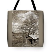 Rustic Hillside Barn Tote Bag by John Stephens
