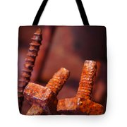 Rusty Screws Tote Bag by Carlos Caetano