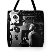 Sailor At Work In The Electric Engine Tote Bag by Stocktrek Images