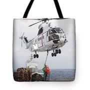Sailors Hook Up A Pole Pendant Tote Bag by Stocktrek Images