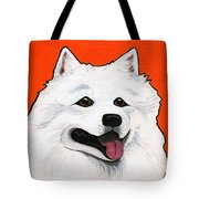 Samoyed Tote Bag by LEANNE WILKES