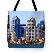San Diego Skyline Photo Tote Bag by Paul Velgos