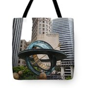 San Francisco - Hobart Building On Market Street Viewed From Top Of Crocker Galleria - 5d17872 Tote Bag by Wingsdomain Art and Photography
