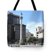 San Francisco - Union Square - 5d17933 Tote Bag by Wingsdomain Art and Photography
