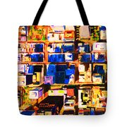 San Francisco Birdseye Abstract . Painterly Tote Bag by Wingsdomain Art and Photography