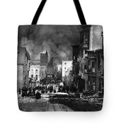 San Francisco Burning After 1906 Tote Bag by Science Source