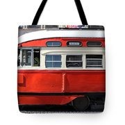 San Francisco Vintage Streetcar On Market Street - 5d18001 Tote Bag by Wingsdomain Art and Photography