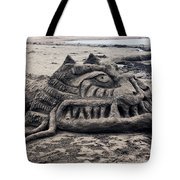 Sand Dragon Sculputure Tote Bag by Garry Gay