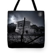 Scary House Tote Bag by Stelios Kleanthous